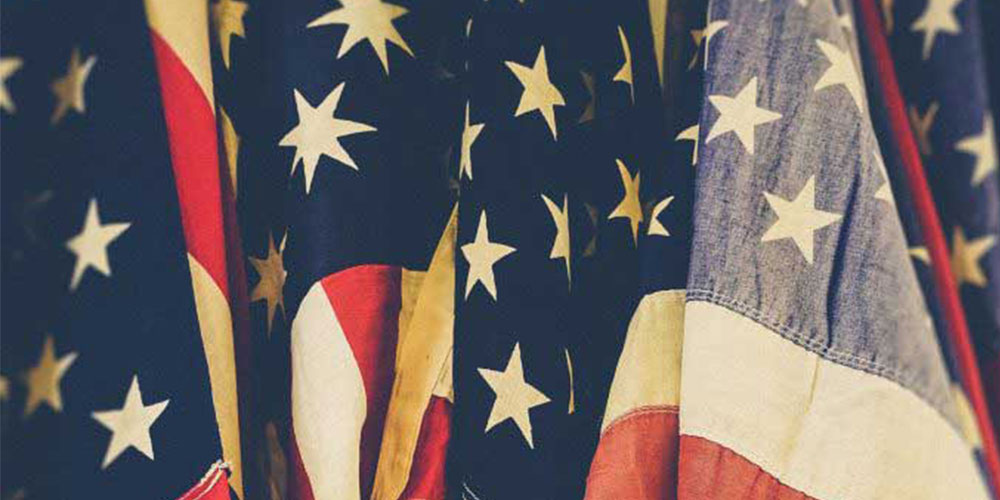 America Flags header