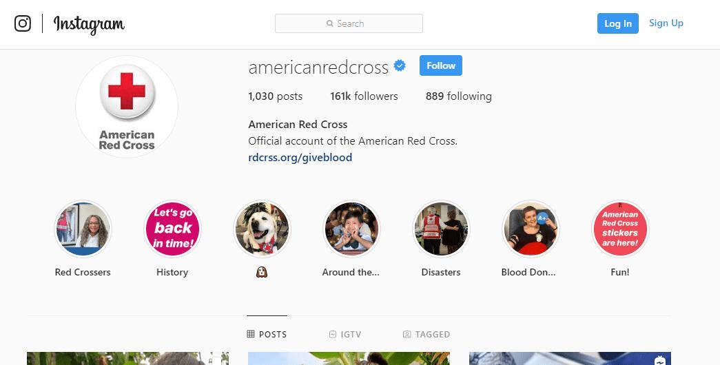 American Red Cross Instagram