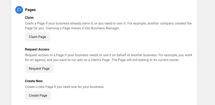 Add Page in Facebook Business Manager